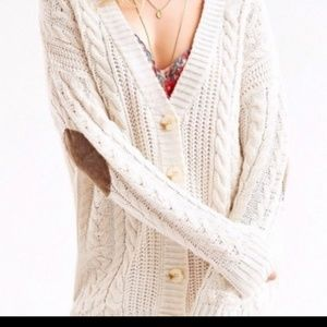 Olive & Oak Cardigan Sweater with Elbow Patches